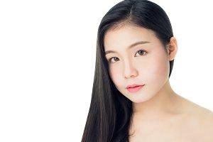 woman skin beauty and health.