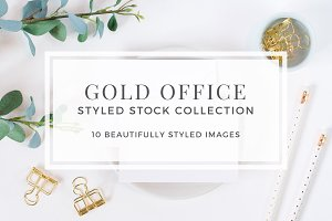 Gold Office Styled Stock Collection
