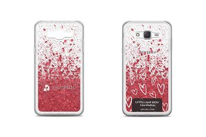 Galaxy J7 UV TPU Liquid Glitter Case