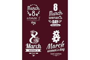 8 March Greeting Cards International Womens Day