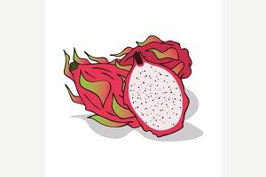 Isolate ripe pitaya or pitahaya