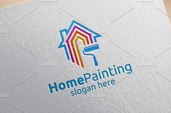 Home Painting Vector Logo Design 3