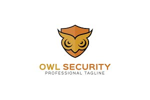 Owl Security Logo Template
