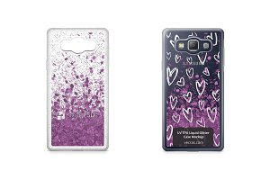 Galaxy A5 UV TPU Liquid Glitter Case