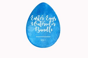 Easter Eggs Watercolor Bundle