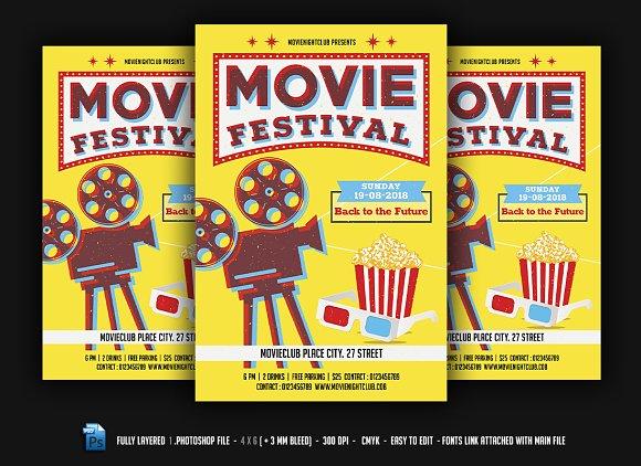Movie Festival Night Flyer