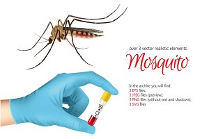 Mosquito Realistic Set