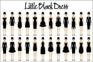 Set of little black dresses