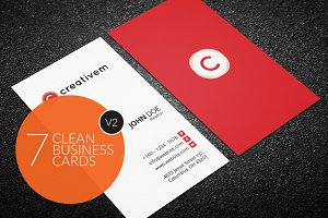 7 Clean Minimal Business Cards - V2