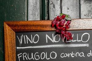 Blackboard wine