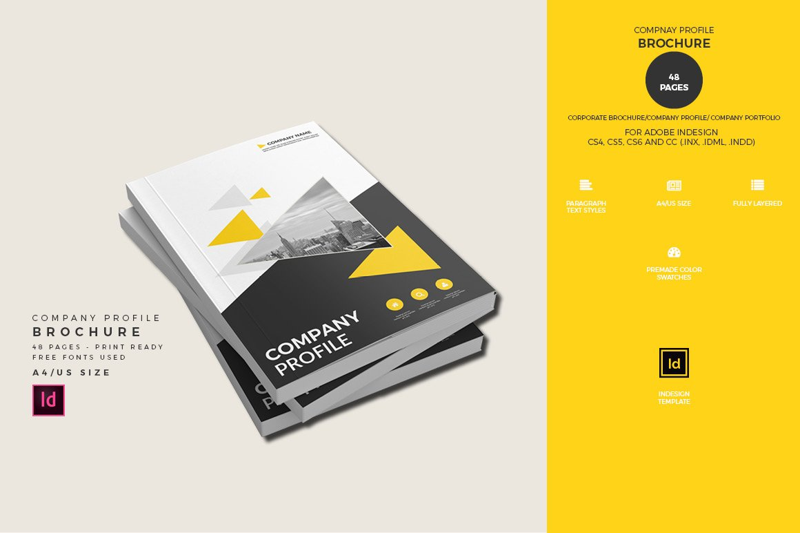 Company Profile Brochure Template Brochure Templates Creative Market