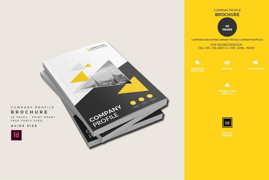 52235b7b4 Company Profile Brochure Template ~ Brochure Templates ~ Creative Market