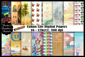 Cuban Life Digital Papers