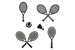 Tennis racket sign icon. Sport symbol.