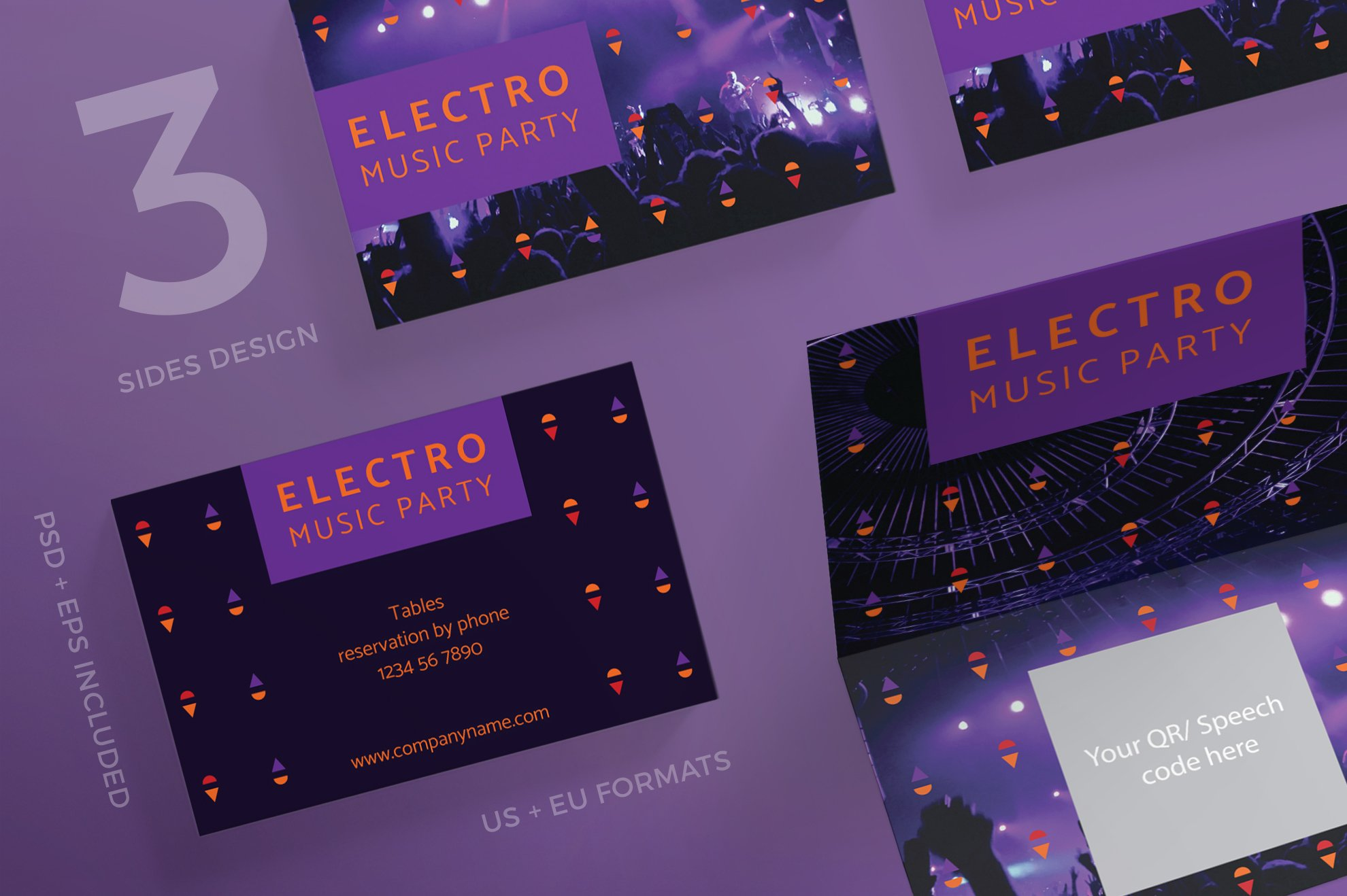 Business Cards | Music Party ~ Business Card Templates ~ Creative Market