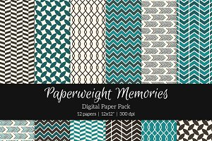 Patterned Paper - Blue chocolate