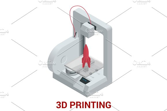 New Generation Of 3D Printing Machine Printing A Model Of Plastic