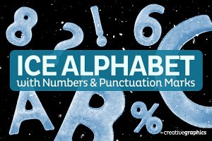 Complete Ice Alphabet,Numbers&PMarks