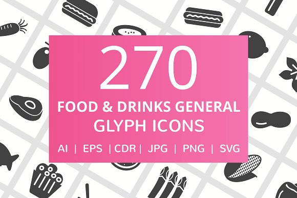 270 Food Drinks General Glyph Icon