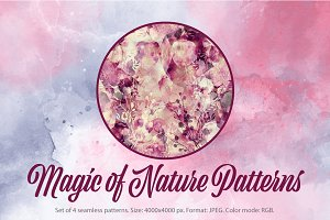 SALE! nature's magic patterns | JPEG