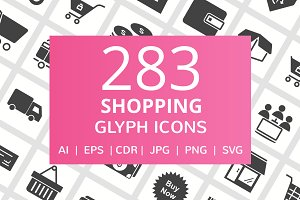 283 Shopping Glyph Icons