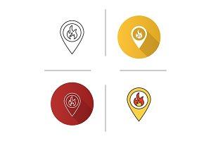 Fire location icon