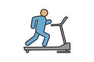 Treadmill color icon