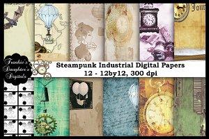 Steampunk Industrial Digital Papers