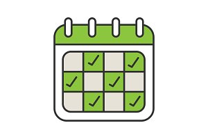 Calendar color icon