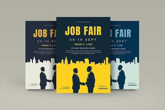 Job Fair Flyer Template Flyer Templates Creative Market
