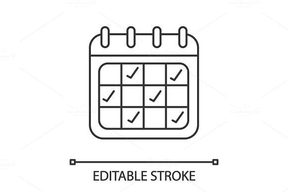 Calendar Linear Icon