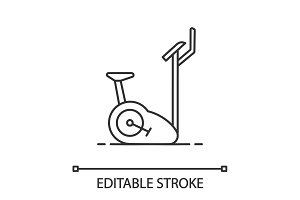 Exercise bike linear icon