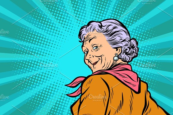 Gray Haired Grandmother A Good Look