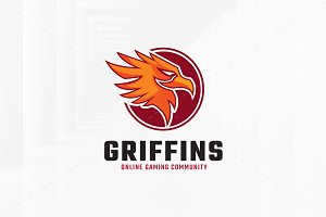Griffin Head Logo Template