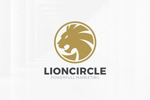 Lion Circle Logo Template