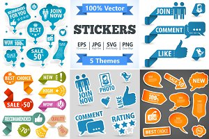 Stickers and Speech Bubbles