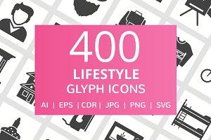 400 Lifestyle Glyph Icons