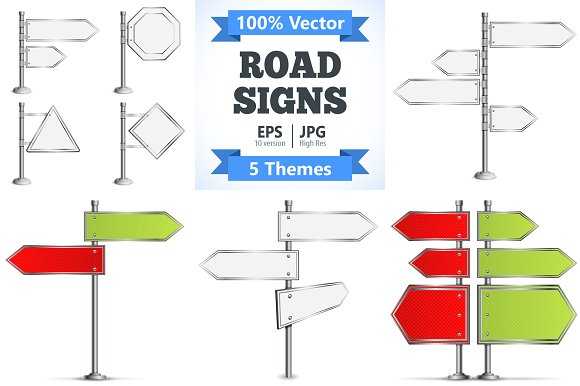 Realistic Road Signs
