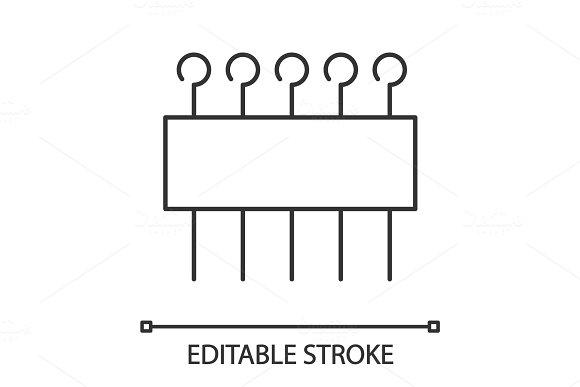 Eye Pins Set Linear Icon