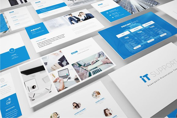 It Support Powerpoint Template Presentation Templates Creative