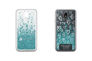 Galaxy J7 2017 UV TPU Liquid Glitter