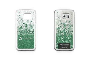 Galaxy S6 Edge UV TPU Liquid Glitter