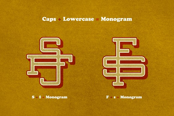 two letter monogram display fonts creative market