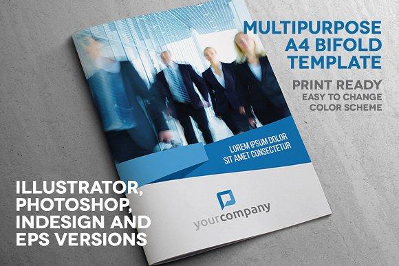 Multipurpose A4 Bifold Print Ready
