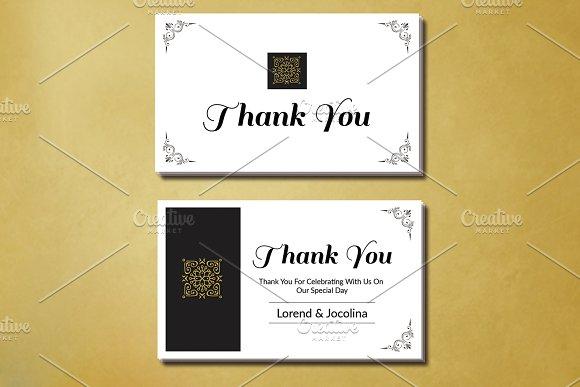 Wedding Thank You Card Template ~ Card Templates ~ Creative Market