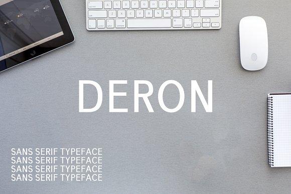 Deron Sans Serif 10 Font Family Pack