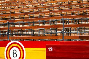 seats inside a Spanish arena