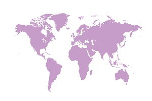 Ultra Violet World Map Simple Graphics Creative Market
