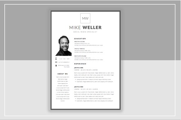 Mike W Resume And Cover Template