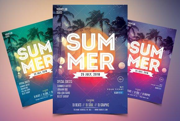 summer event psd flyer template flyer templates creative market